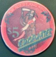 $5 Casino Chip. Edgewater, Laughlin, NV. M97. - Casino