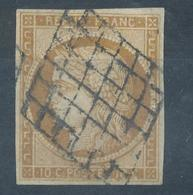 N° 1 GRILLE 1849 TIMBRE SIGNE - 1849-1850 Ceres