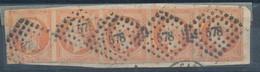 N° 16 BANDE DE 5 TIMBRES - 1853-1860 Napoleon III