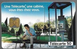 """Telecarte 50 - """"Une Telecarte, Une Cabine, Vous êtes Chez Vous"""" - Telephones"""