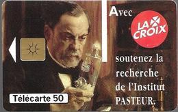 Telecarte 50 - La Croix - Institut Pasteur - Advertising