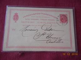 Carte Entier Postal Des Antilles Danoises De 1900 Pour St Thomas - Antilles