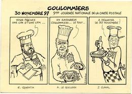 77 COULOMMIERS - Thème FROMAGE - Dessin QUENTIN, LE GUILLOUX, CLAVAL - 120 Ex. - 1997 - Journée De La Carte Postale - Coulommiers