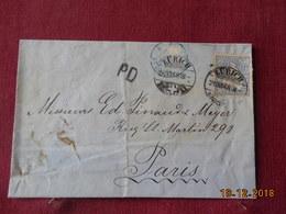 Lettre De Suisse De 1868 Pour Paris - Lettres & Documents