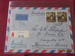 Lettre Du Liechtenstein De 1959 Pour Buenos Aires En Recommande - Liechtenstein