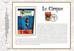 """"""" LE CIRQUE """" Sur Feuillet CEF N°té En SOIE De 2002 N° 1587s. N° YT 3466. Parfait état FDC - Cirque"""