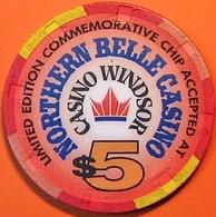 $5 Casino Chip. Northern Belle, Ontario, Canada. M98. - Casino