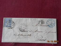 Lettre De Suisse De 1869 Pour Paris - Lettres & Documents