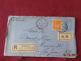 Lettre Entier Postal Du Chili De 1896 (devant De Lettre) En Recommande - Chili