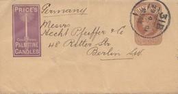 England: 1901: Brief Nach Berlin: Palmitine Candles - Great Britain