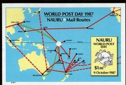 NAURU, 1987 WORLD POST DAY IMPERF MINISHEET MNH - Nauru