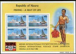 NAURU, 1981 FISHING MINISHEET MNH - Nauru