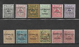Colonie Wallis Et Futuna De 1920 N°1 A 12 Neufs * - Wallis Y Futuna