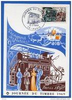 Let160 Cachet GF PJ Journée Du Timbre Paris 15/03/1969 / CP - 1960-1969