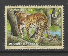 TIMBRE NEUF DES NATIONS UNIES VIENNE - LEOPARD (PANTHERA PARDUS) N° Y&T 319 - Big Cats (cats Of Prey)