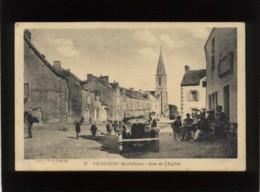 56 Pénestin Rue De L'église édit. Vve Postec  Nozais N° 37 Animée Automobile - Sonstige Gemeinden