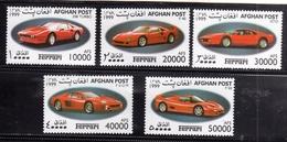 AFGHANISTAN - AFGANISTAN - AFGHAN POST 1999 FERRARI CARS SERIE DI 5 SET MNH - Afghanistan