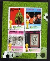 GUYANA GUIANA 2006 FIFA WORLD CUP FOOTBALL GERMANY GERMANIA COPPA DEL MONDO BLOCK SHEET BLOCCO FOGLIETTO FOUILLET MNH - Guiana (1966-...)