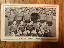 FOOTBALL: CHROMO  DES ANNEES 60 AVEC L'EQUIPE DE L'EQUIPE NATIONALE BELGE DIABLE ROUGE LE 2 OCTOBRE 1960 - Andere