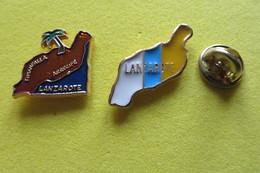 2 Pin's,ville,ile,LANZAROTE, Palmire - Cities