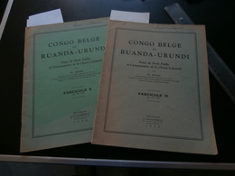 Congo Belge Et Ruanda-Urundi  : Fascicules IX-X (1954) : Force Publique (Heyse) - Tijdschriften & Kranten