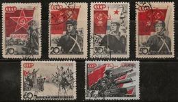 Russie 1938 N° Y&T :  621 à 623,625,626 Et 627B Obl. - 1923-1991 USSR