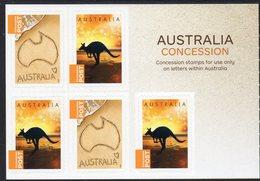 AUSTRALIA, 2014 CONCESSION STAMPS B/LET OF 5 S/ADH STAMPS MNH - 2010-... Elizabeth II