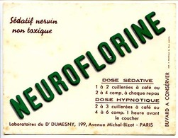 Buvard  13.4 X 10.5 Docteur Dumesny  Pharmacien  Neuroflorine  Sédatif Nervin Non Toxique - Produits Pharmaceutiques