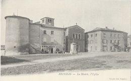 Brindas (Rhône) - La Mairie, L'Eglise - Edition Corgier - Carte Dos Simple Non Circulée - Francia