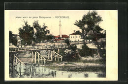 AK Lescovac, Ortspartie Mit Brücke - Serbie