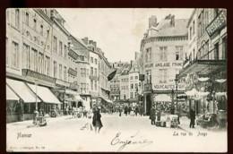 NAMUR - La Rue De L' Ange - (Beau Plan Très Animé Avec Commerces) - CP Très Ancienne - Namur