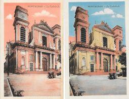 Montauban - Lot De 11 Cartes Colorisées, Non Circulées, Edition Combier: Cathédrale, Poste, Lycée, Pont... - Montauban