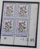 Bloc De 4 Neuf Sans Charniere Taxe N°101 Coin Daté 01.03.65 - Coins Datés