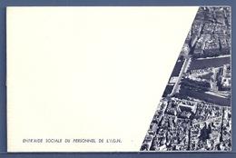 CARTE DOUBLE : ENTR'AIDE SOCIALE DU PERSONNEL DE L'I.G.N. (3 Scans) - Programmes