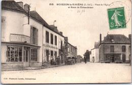 44 MOISDON LA RIVIERE - Place De L'église Et Route De Chateaubriant - Moisdon La Riviere