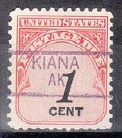 USA Precancel Vorausentwertung Preo, Locals Alaska, Kiana 835,5 - Vereinigte Staaten