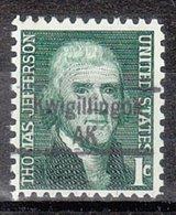 USA Precancel Vorausentwertung Preo, Locals Alaska, Kwigillingok 843 - Vereinigte Staaten