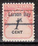USA Precancel Vorausentwertung Preo, Locals Alaska, Larsen Bay 843 - Vereinigte Staaten