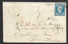 Cotes Du Nord-Enveloppe-Cachet De Chatelaudren-Cachet Rouge Paris Au Dos-N°14B - Postmark Collection (Covers)