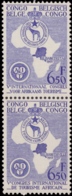 Congo 0337/38**  Tourisme Africain Paire Verticale  MNH - Congo Belge