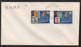 AITUTAKI - COOK - UPU / 15-7-1974 ENVELOPPE FDC - SCOTT # 102-103  (ref LE2856) - Aitutaki