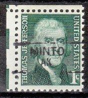USA Precancel Vorausentwertung Preo, Locals Alaska, Minto 835,5 - Vereinigte Staaten