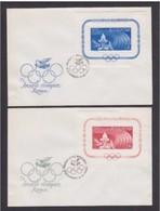 ROMANIA - 11 6 1960  2 FDC GIOCHI OLIMPICI ROMA - FDC