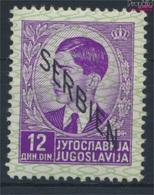 Serbien (Dt.Bes.2.WK.) 12 Mit Falz 1941 Aufdruckausgabe (9260657 - Besetzungen 1938-45