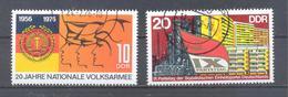 1976   DDR Mi-2116-2117  24. Februar 20 Jahre Nationale Volksarmee - [6] République Démocratique