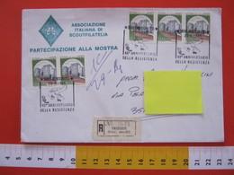 A.05 ITALIA ANNULLO - 1985 MUGGIA TRIESTE 40 ANNI DELLA RESISTENZA PARTIGIANI SECONDA GUERRA WAR 1945 RACCOMANDATA RARA - Seconda Guerra Mondiale