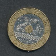 20 Fr. Mont Saint Michel 1992 - L. 20 Francs
