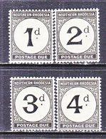 NORTHERN  RHODESIA  J 1-4   * - Northern Rhodesia (...-1963)
