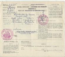 Permission  Du 2/8° Régiment Tirailleurs Tunisiens  Avec Cachet De Gendarmerie Au Dos De 1956 - Dokumente