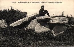 ALLEE COUVERTE EN PLEUMEUR PRES L'ILE GRANDE -22- - Pleumeur-Bodou